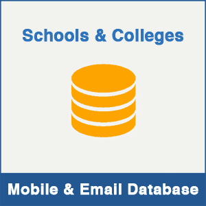 Schools & Colleges Mobile Number Database & Email Database
